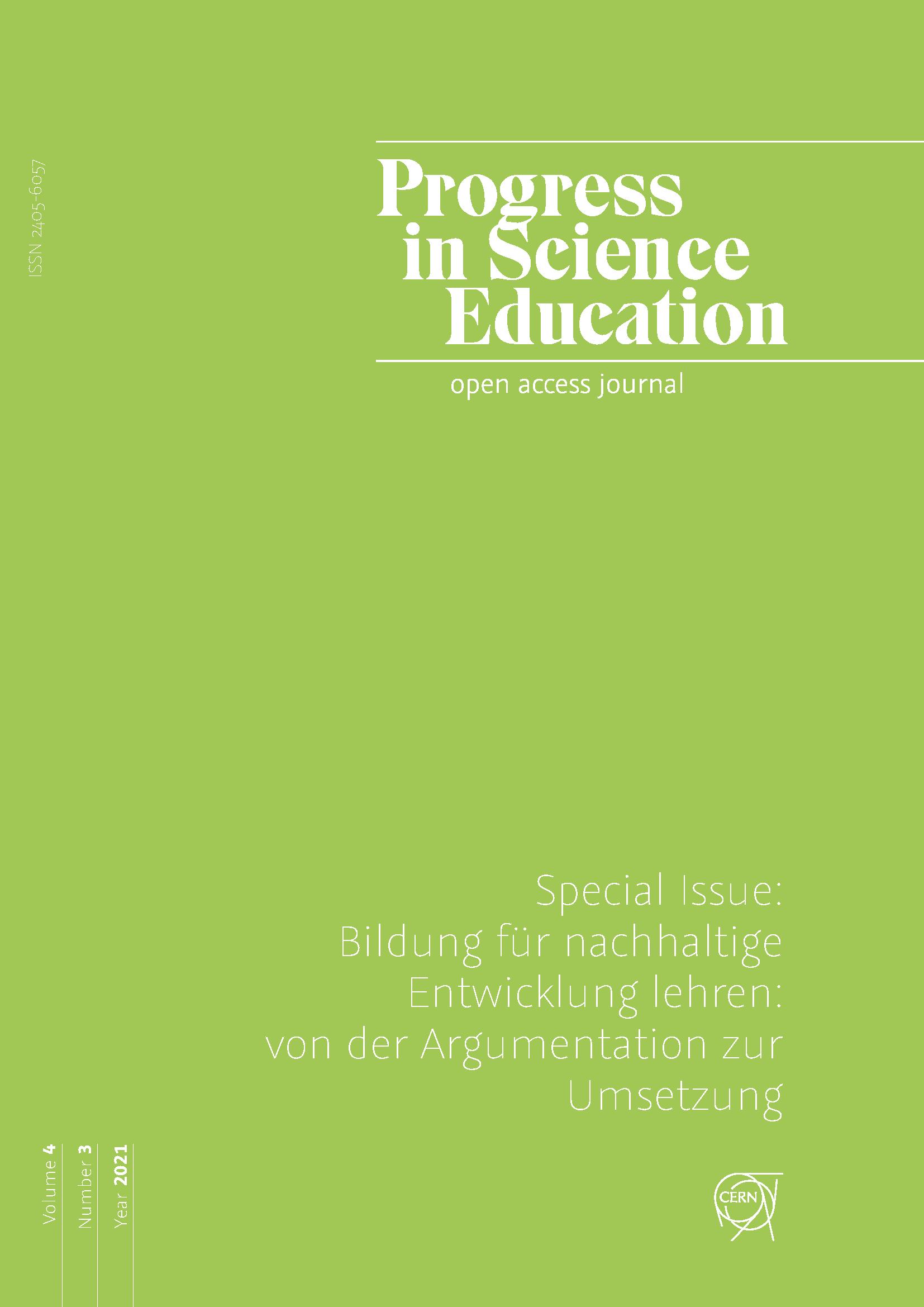 View Vol. 4 No. 3 (2021): Special Issue: Bildung für nachhaltige Entwicklung lehren: von der Argumentation zur Umsetzung