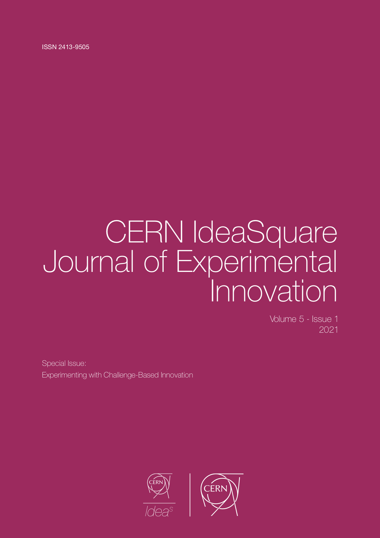 """View Vol. 5 No. 1 (2021): Special issue: """"Experimenting with Challenge-Based Innovation"""""""
