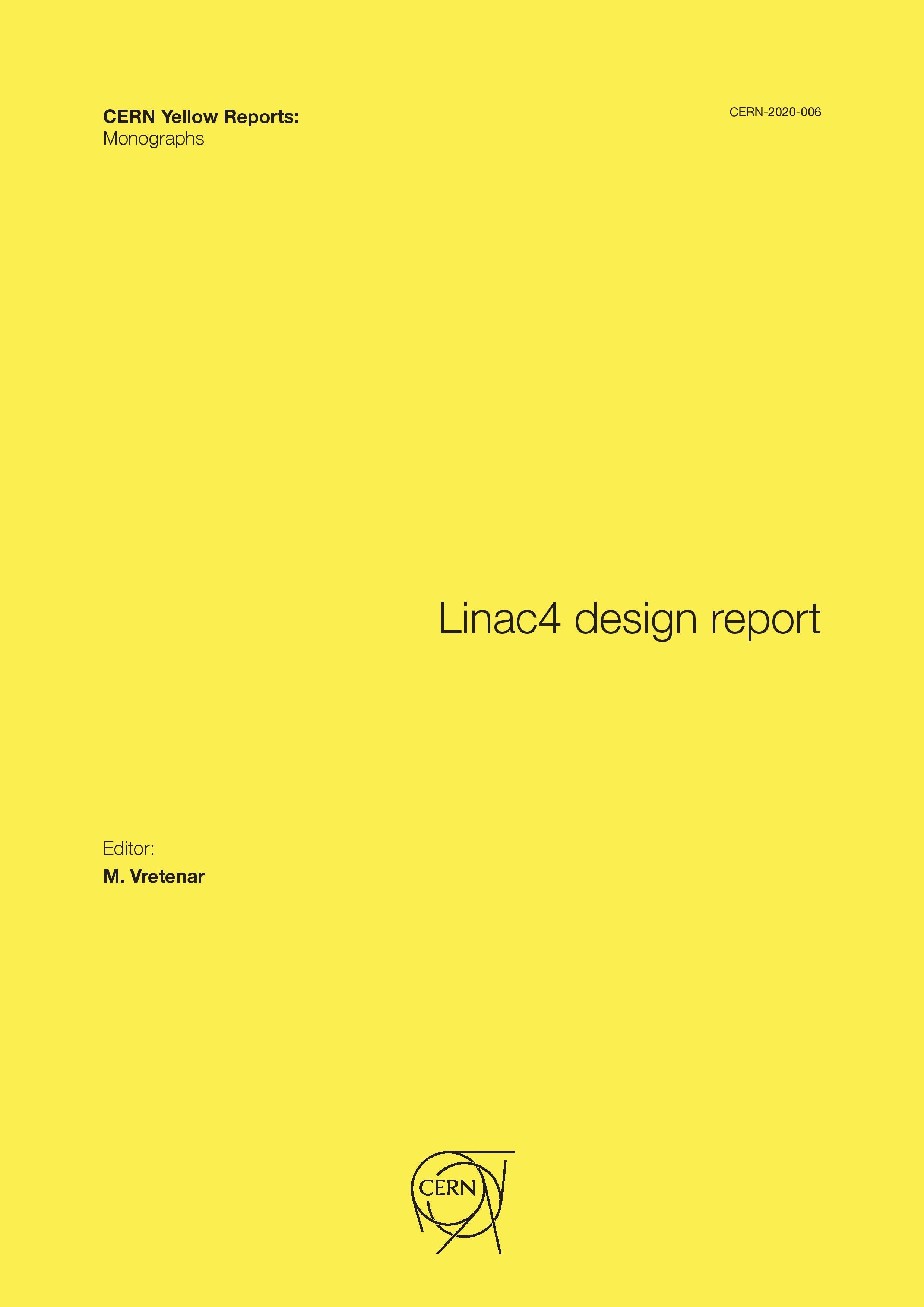 View Vol. 6 (2020): Linac4 design report