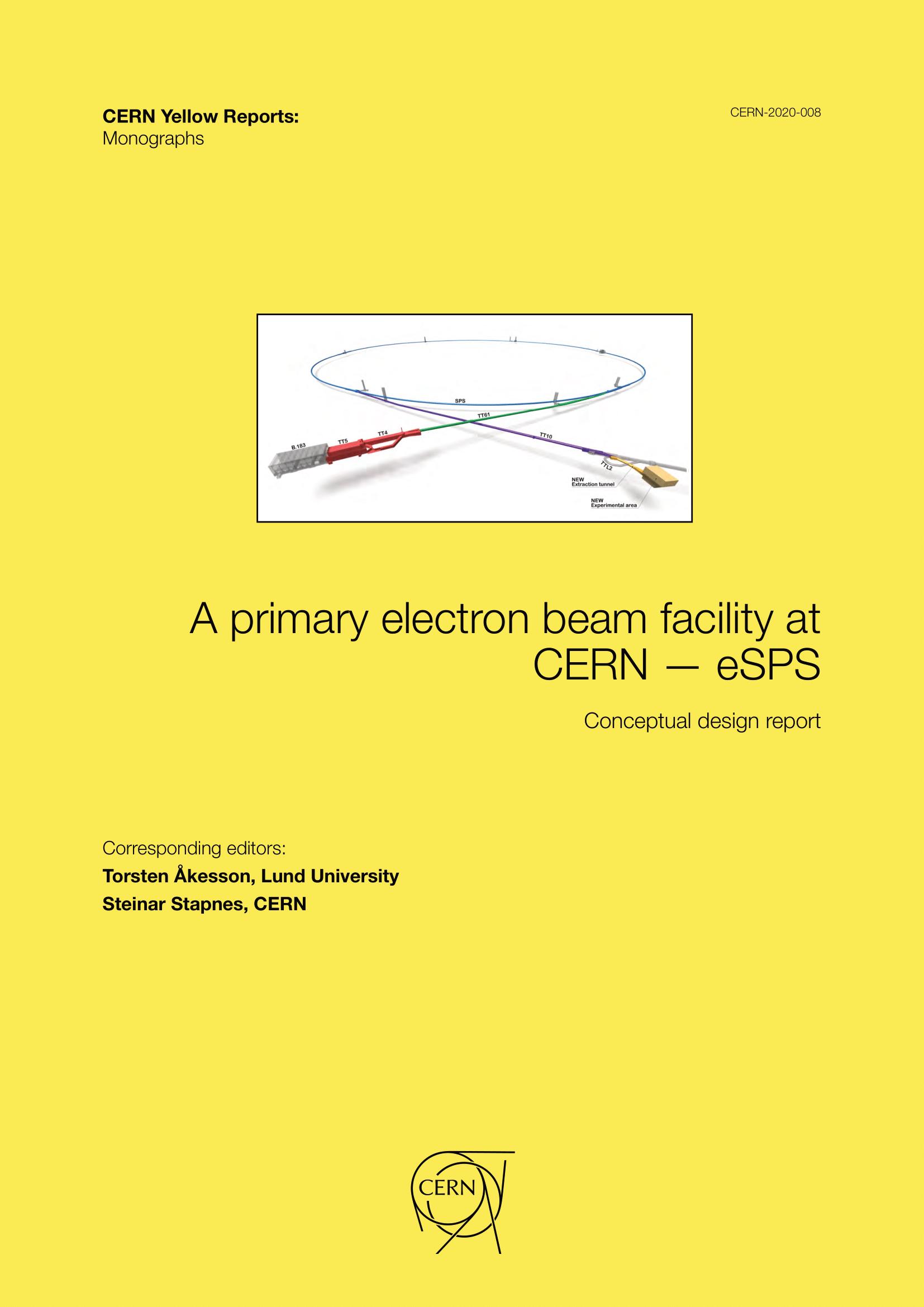 View Vol. 8 (2020): A primary electron beam facility at CERN—eSPS: Conceptual design report