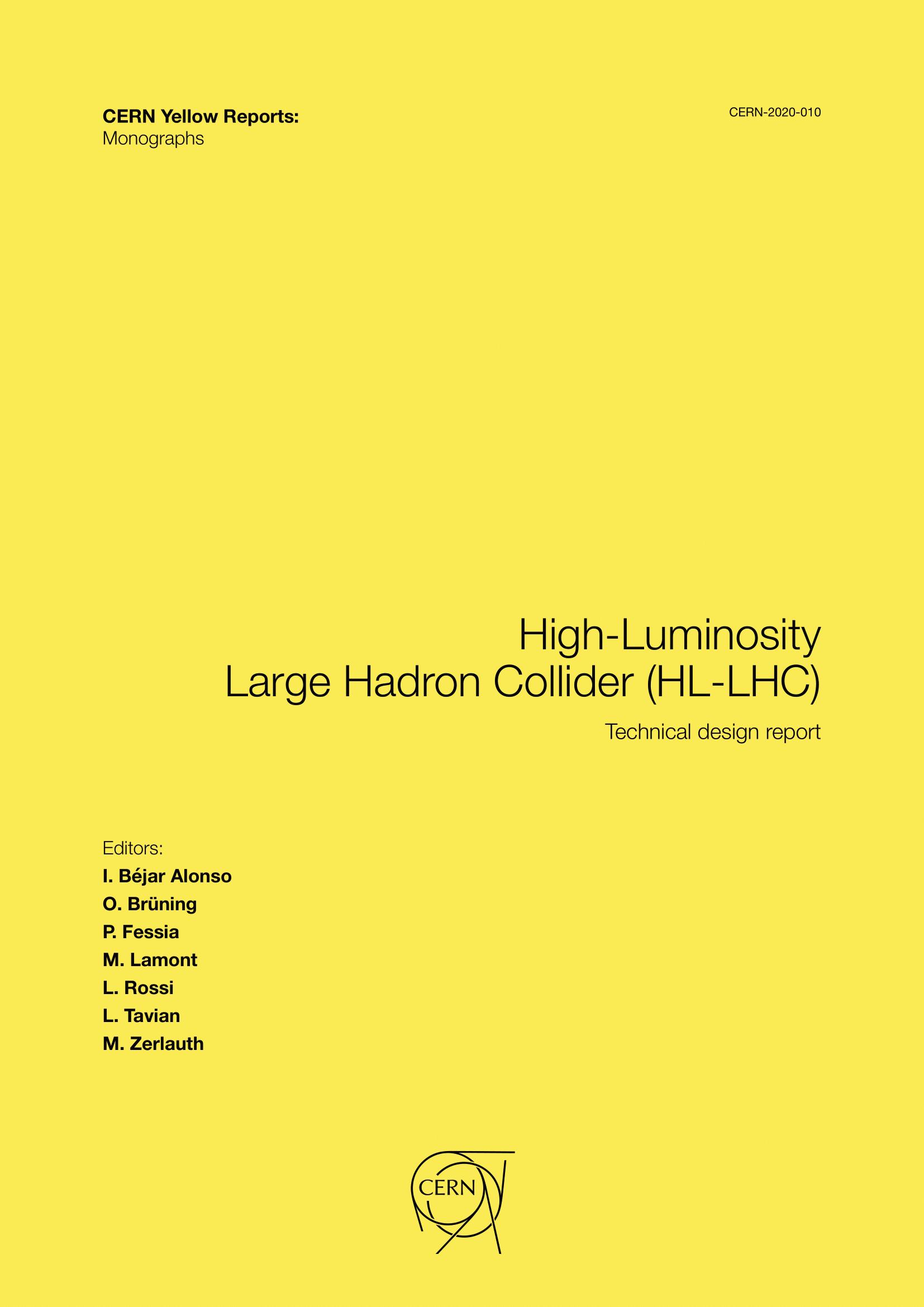 View Vol. 10 (2020): High-Luminosity Large Hadron Collider (HL-LHC): Technical design report